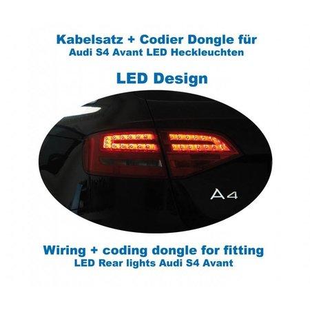 Bedrading + codering dongle LED achterlichten Audi A4 / S4 Avant