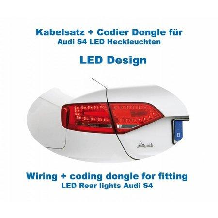 Bedrading + codering dongle LED achterlichten Audi A4 / S4