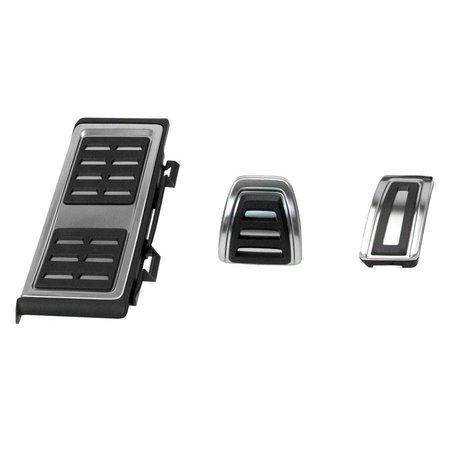 Pedalen / voetensteun - roestvrij staal - automatische transmissie VW Golf 7 Audi A3 8V Seat Leon 5F Skoda Octavia 5E