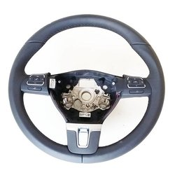 Volkswagen VW leather steering wheel with MFL white stitching 1T0 419 091 AC 1T0419091AC