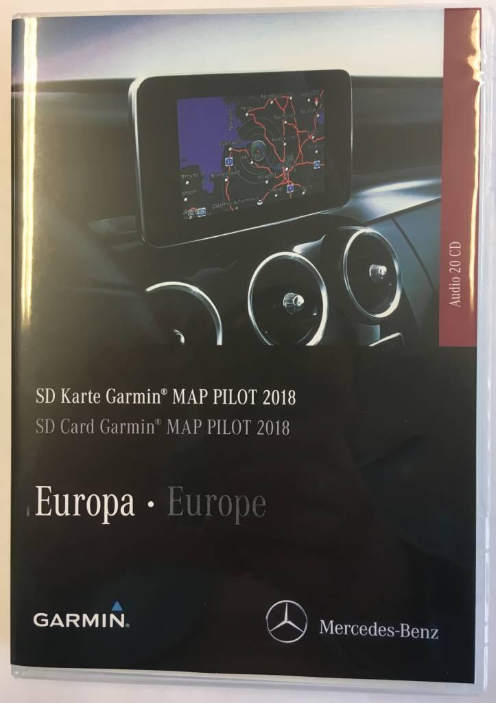 Kaartupdate 2018 Garmin Map Mercedes SD Card Versie V10