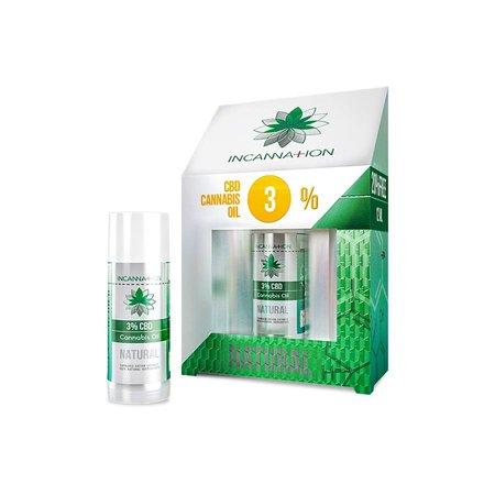 Incannation CBD olie puur 3% 10 ml + 2 ml gratis