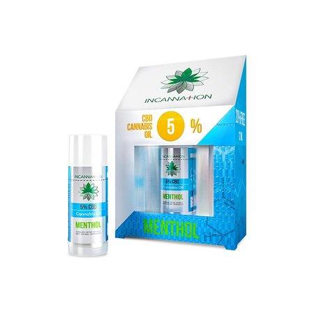 Incannation CBD olie Menthol puur 5% 10 ml + 2 ml gratis