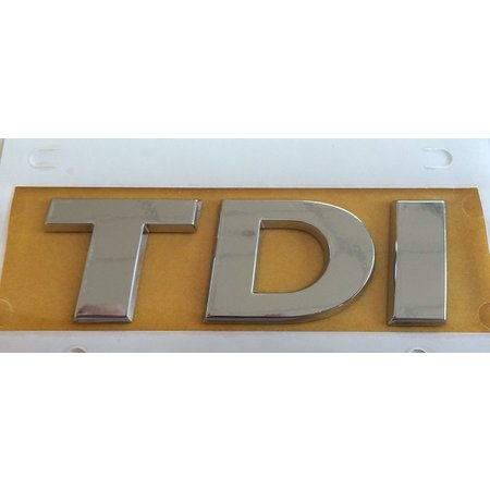 Original Volkswagen lettering TDI rear logo emblem 5G0 853 675 D