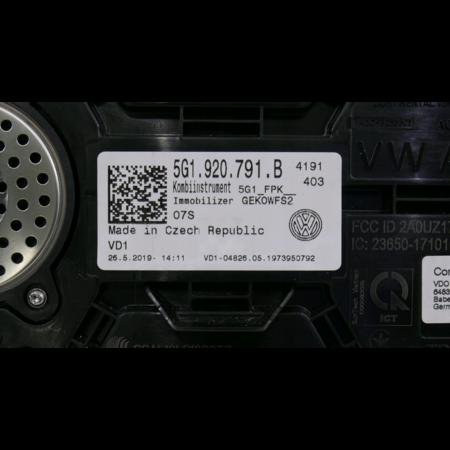Volkswagen Virtuelles Cockpit VW Golf VII 7 Lift LCD Digital 0 KM