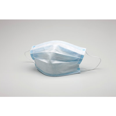 Mouth masks FFP1 WHITE / BLUE - Mouth masks with elastic - Mouth masks with filter - Mouth masks - Disposable mouth masks - Mouth masks