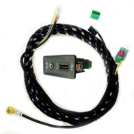 Volkswagen Audi USB und AUX Buchse mit Kabel für MIB Radios und Navigation MQB und PQ