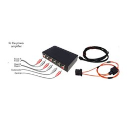 Audio aux output 6x out interface complete set for Audi MMI 2G systems