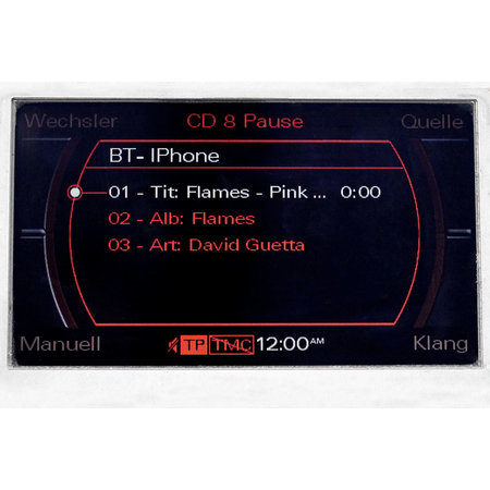 Audio-interface voor Audi MMI 2G High en Basic Low Bluetooth A2DP AUX AMI-streaming