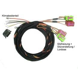 Stoelverwarming met lendensteun stoelverstelling - Kabel - Audi A4 B6, A4 B7