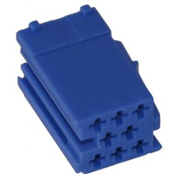 MINI ISO - White Plug Housing - 8-pins, 10PC