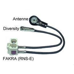 Audi antenne-adapter diversiteit head unit RNS-D naar RNS-E