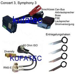 Audi bundel adapter hoofdunit BNS 5.0, Concert 3, Symphony 3