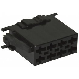 ISO - Black Plug Housing - 8-pins, 10PC