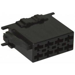 ISO - Schwarz Steckergehäuse - 8-polig, 10pc