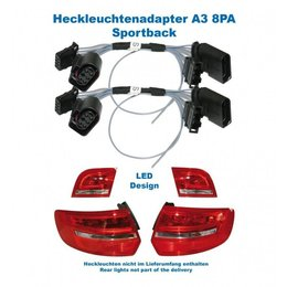 Facelift LED achterlichten - Adapter - Audi A3 Sportback 8PA