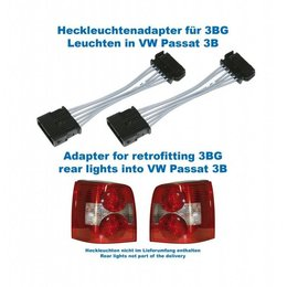 Facelift achterlichten 3BG - Adapter - VW Passat 3B