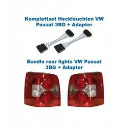 Facelift Heckleuchten 3BG - Lichter w / Adapter - VW Passat 3B