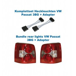 Facelift Rear Lights 3BG - Lights w/Adapter - VW Passat 3B