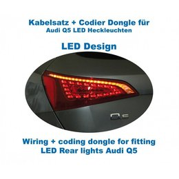 Wiring + coding dongle LED Rear Lights Audi Q5