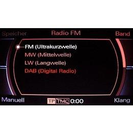 DAB Digital Radio - bedrading - Audi Q7 4L MMI 2G