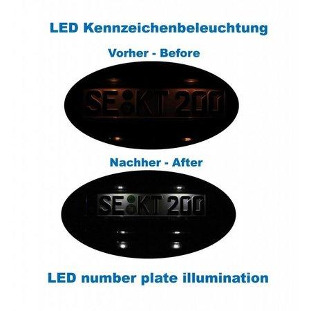 Bundle LED Kennzeichenbeleuchtung Audi A5 8T, A4 8K, Q5 8R