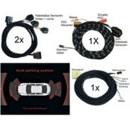 Audi Parking System voor + achter -Wiring- Audi A8 4E