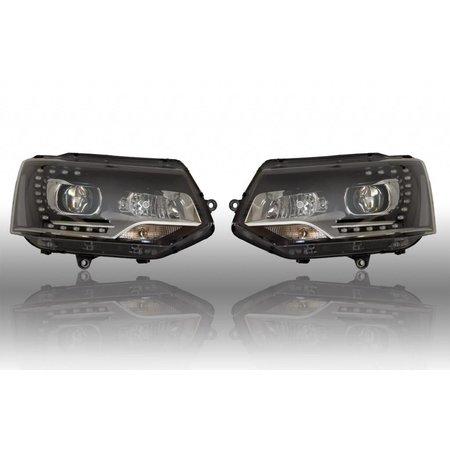 Bi-Xenon Scheinwerfer LED TFL für VW T5 GP