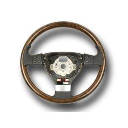 Original VW Golf 5 Jetta V walnut steering wheel multifunctional