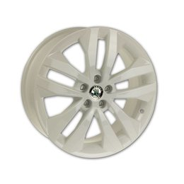 Original Skoda 17 inch Alloy Wheel white type Gigaro