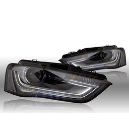 Bi-Xenon Headlights LED DTRL - Audi A4 8K Facelift - right traffic