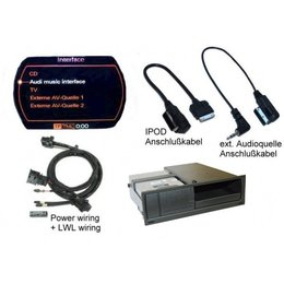 Nachrüst-Set AMI (Audi music interface) für Audi Q7 4L MMI 2G - USB