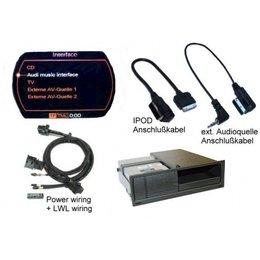 Nachrüst-Set AMI (Audi music interface) iPod für Audi A8 4E MMI 2G - ext. Audioquelle