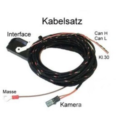 Kabelsatz APS Advance - Rückfahrkamera für Audi A8 4E MMI 2G - TV werkseitig vorhanden
