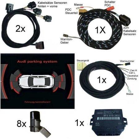 Komplett-Set APS+ plus (optische Anzeige) Front & Heck für Audi A4 8K - ab Mj. 2013 - Radio