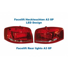 Facelift LED achterlichten - Original Design - Audi A3 8P