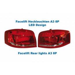 Facelift LED achterlichten - Original Design - Audi A3 8P