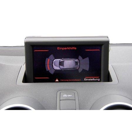 Komplett-Set Einparkhilfe plus - Front & Heck für Audi A1 8X - Mit RDK / Mit Sitzheizung
