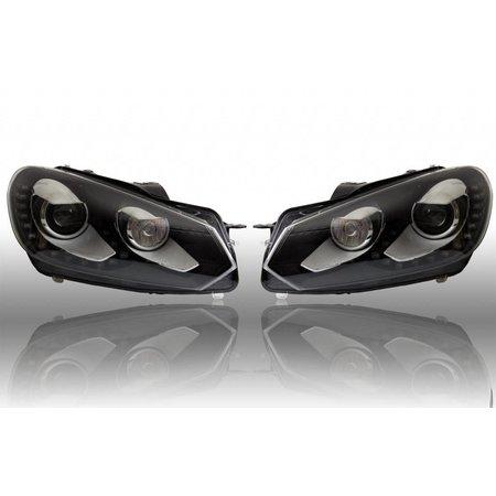 Bi-Xenon Scheinwerfer Set LED TFL für Golf VI 6 - mit elektr. Dämpferregelung / 4Motion