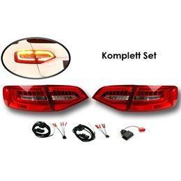 Komplett-Set LED Heckleuchten für Audi A4/S4 Avant Facelift - LED auf LED facelift