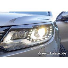 Bi-Xenon Headlights LED DTRL - Upgrade - VW Touareg 7P - without air suspension