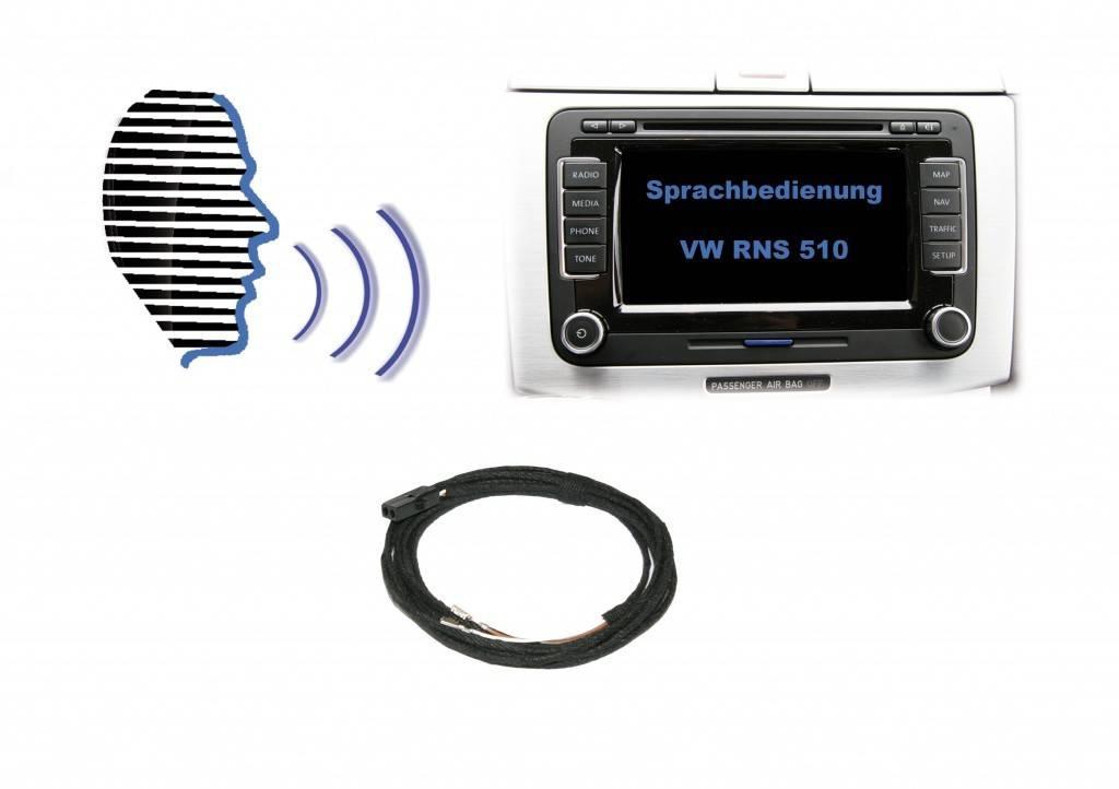 Voice control - Retrofit - VW RNS 510 - factory hands free available