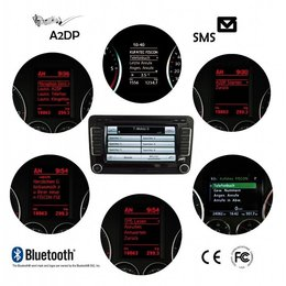 "FISCON Bluetooth Handsfree - ""Basic-Plus"" - VW, Skoda Micro - Interior light"