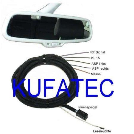 Automatisch dimmende binnenspiegel - retrofit - Audi A6, A7 4G - tot 2014, zwart -