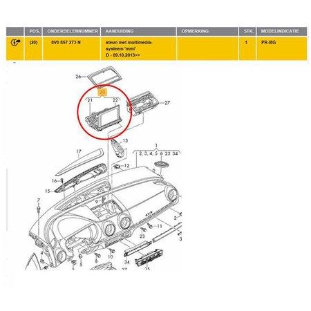 Audi A3 S3 MULTIMEDIACARD 8V0 857 273