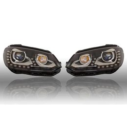 VW Bi-Xenon Headlights LED DTRL - Upgrade - VW Tiguan 2012