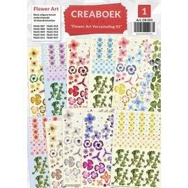Creatief Art Crea Buch - Blumen-Kunst Verzamelmap 01