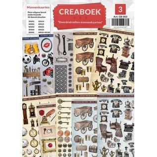 Creatief Art Crea Buch 03 - von Männern Gedruckte Blatkarten