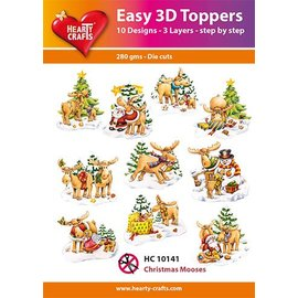 Hearty Crafts 3D-topper Christmas Mooses