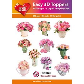 Hearty Crafts 3D-topper Bouquet in Vase